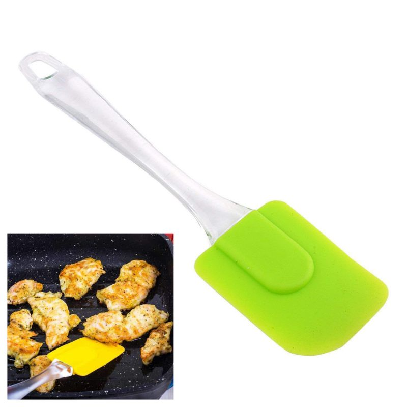 2279 Кухненска силиконова шпатула лопатка с прозрачна дръжка