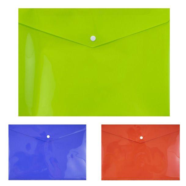 2287 Едноцветна папка с копче А4, PVC