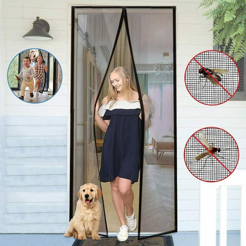 2292 Комарник за врата с магнити мрежа перде завеса против насекоми