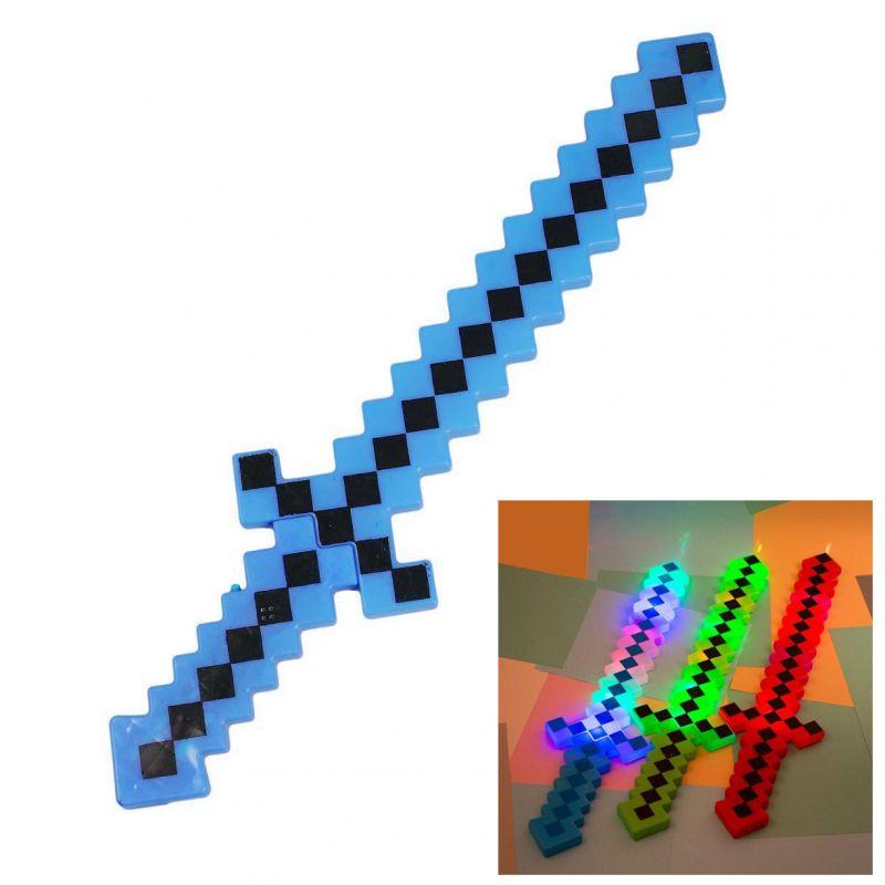 2293 Голям светещ меч Майнкрафт играчка Minecraft със звук, 62 см