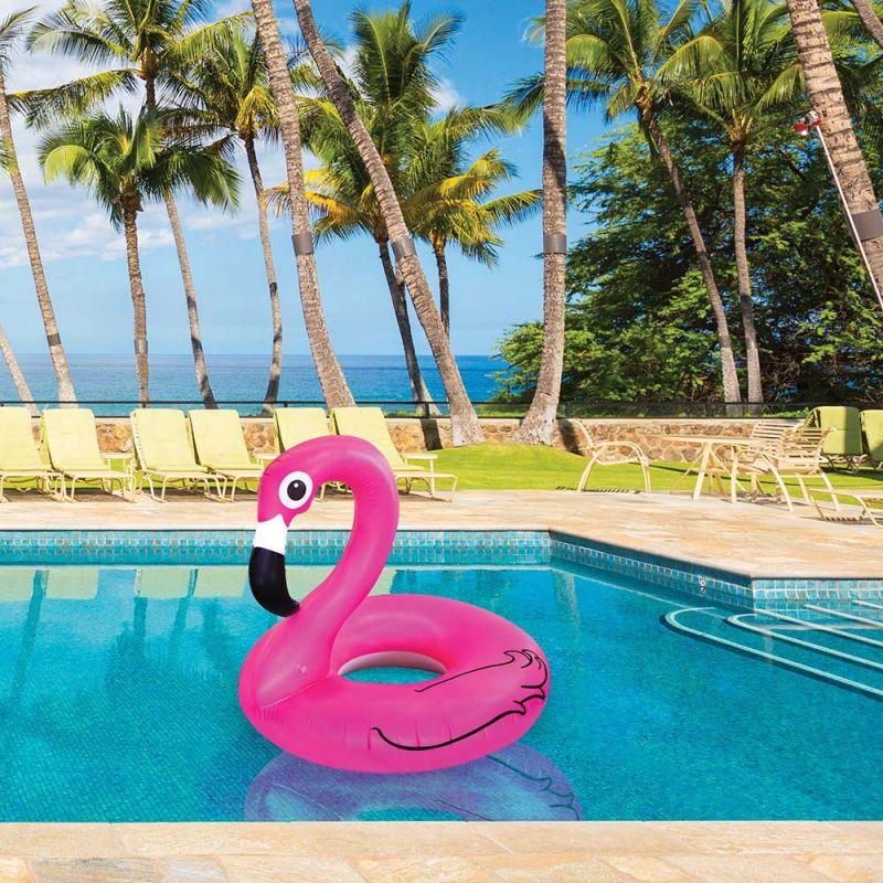 2295 Надуваем пояс Розово фламинго, 70 см
