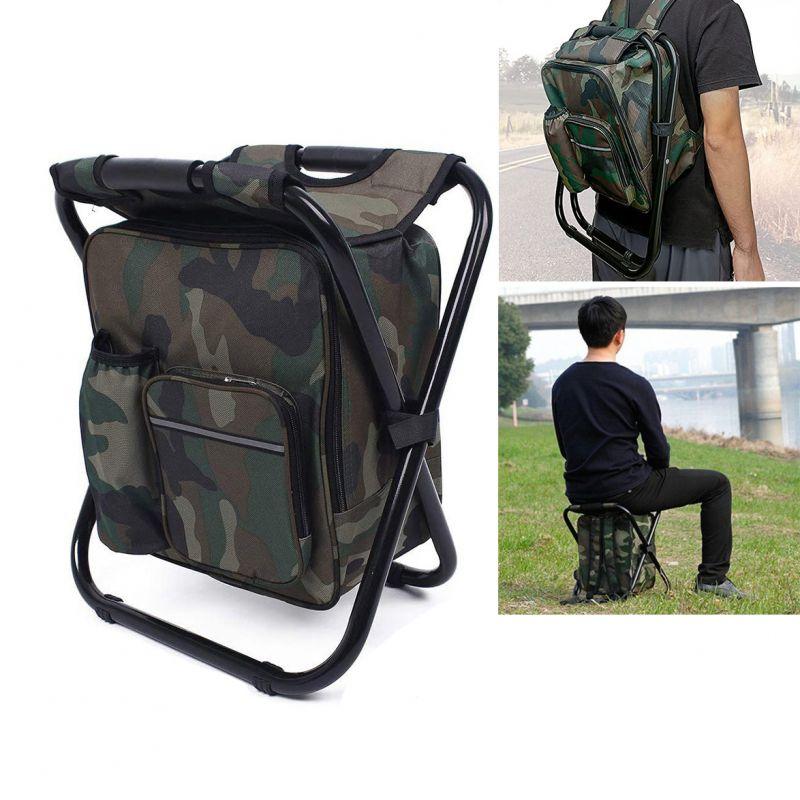 2306 Сгъваем стол с раница за къмпинг риболов пикник