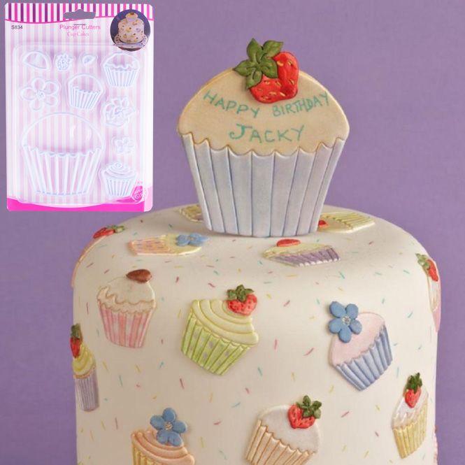 2312 Комплект печати за сладки Кексчета фондан торта, 10 броя