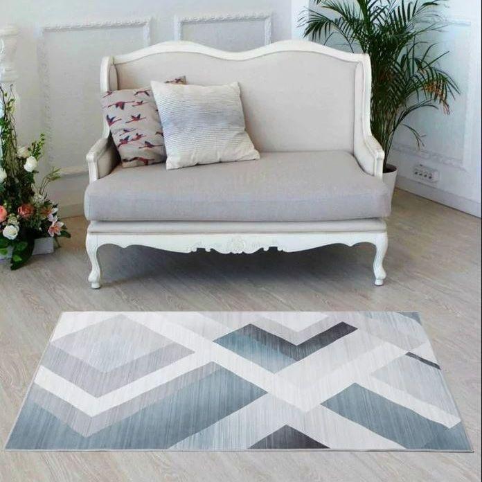 2341 Постелка за под килимче Ъгли, 100x150cm
