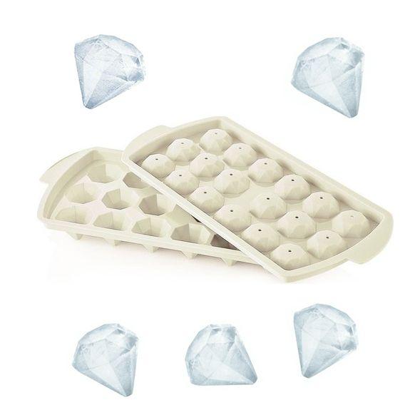 1012 Пластмасова форма за лед с капак ДИАМАНТ, 18 гнезда форми за лед диамант