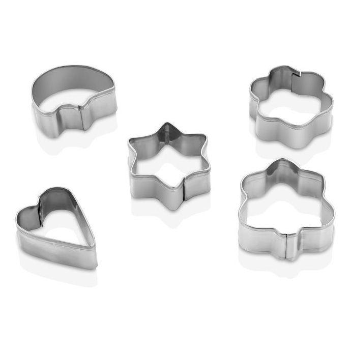 2351 Комплект метални формички за сладки, 5 броя