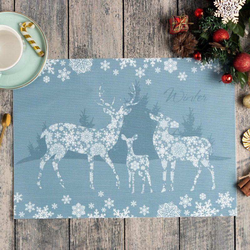 2334 Коледна подложка за хранене Снежни елени