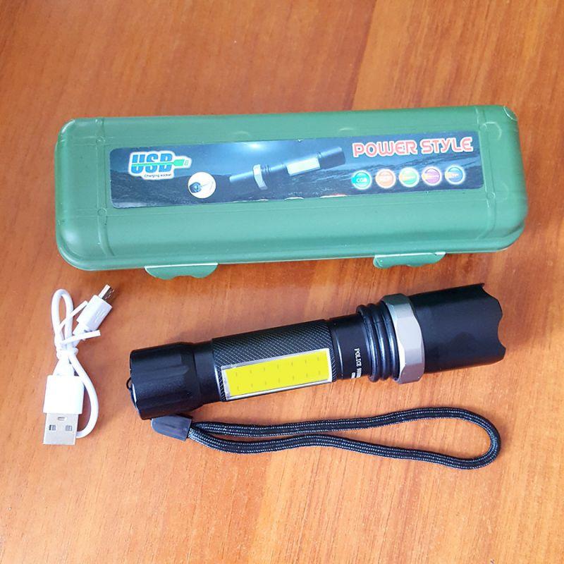 2428 Акумулаторен Led фенер POWER STYLE, Zoom функция