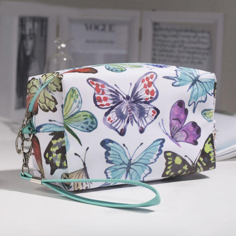 2448 Малка козметична чантичка Шарени пеперуди