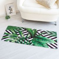 2336 Постелка килимче пътека за под Тропически листа, 45x120cm