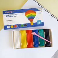 2394 Детски пластилин с инструмент за моделиране, 6 цвята