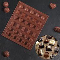 2408 Силиконова форма за шоколадови бонбони Бонбониера