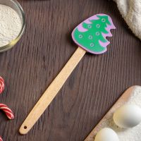 2421 Кухненска силиконова шпатула с дървена дръжка Елхичка