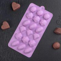 2418 Силиконова форма за бонбони и лед Скъпоценни камъни
