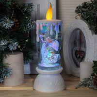 1210 Голяма електронна свещ светещо коледно преспапие Ангел с гълъб